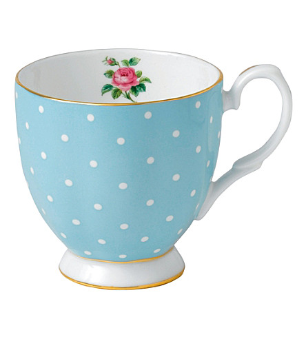 ROYAL ALBERT Polka Blue mug