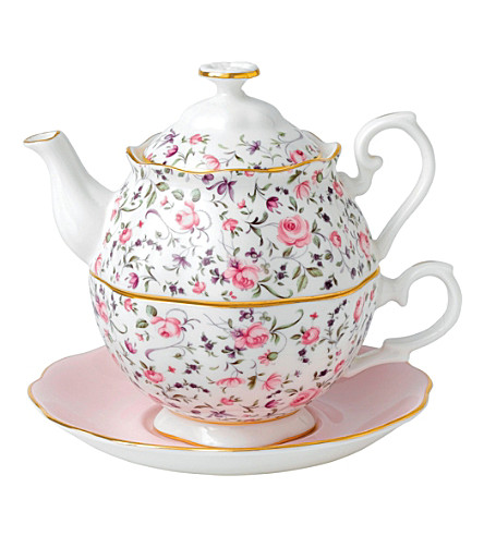 ROYAL ALBERT Rose Confetti tea for one set