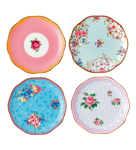 ROYAL ALBERT Candy set of four mini plates 10cm