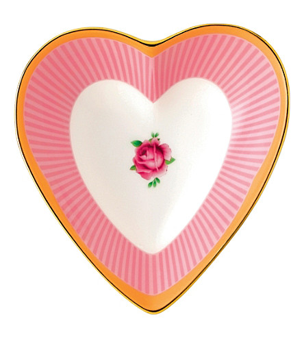 ROYAL ALBERT Candy Sweet Stripe heart tray