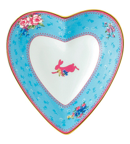 ROYAL ALBERT Candy Honey Bunny heart tray