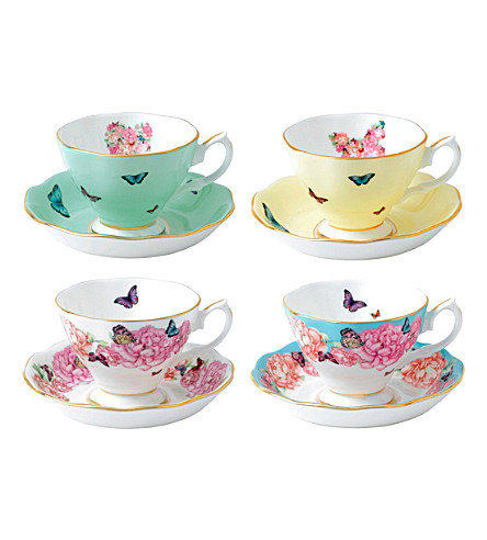 ROYAL ALBERT Miranda kerr friendship teacups and saucers set of four