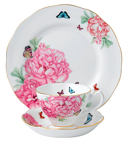 ROYAL ALBERT Miranda Kerr Friendship fine bone china three-piece tea set 20cm
