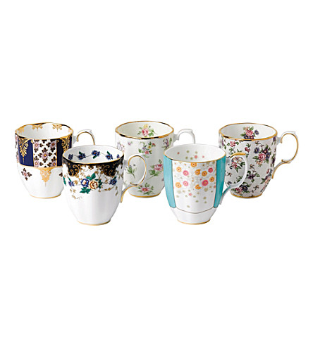 ROYAL ALBERT 100 years 5-piece mug set (1900-1940)