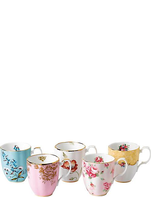 ROYAL ALBERT 100 years 5-piece mug set (1950-1990)  sc 1 st  Selfridges & ROYAL ALBERT - Selfridges | Shop Online