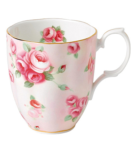 ROYAL ALBERT 100 years rose blush mug (1980's)