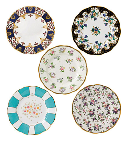 ROYAL ALBERT 100 years 5-piece side plate set (1900-1940)