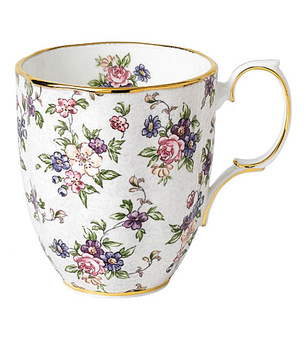 ROYAL ALBERT 100 years english chintz mug (1940's)
