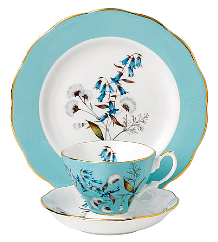 ROYAL ALBERT 100 years festival 3-piece tea set (1950's)