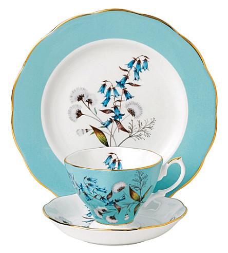 ROYAL ALBERT 100 岁节3件茶叶套装 (1950)