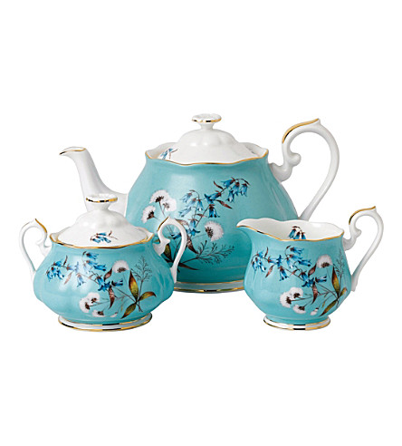 ROYAL ALBERT 100years 1950 festival teapot, sugar and milk set