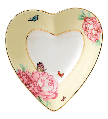 ROYAL ALBERT Mirander Kerr bone china heart tray 13cm