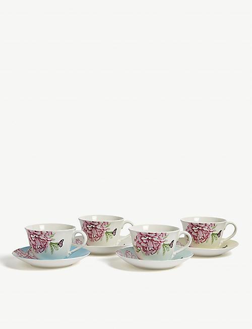 ROYAL ALBERT Miranda Kerr Friendship porcelain teacups and saucers set of eight