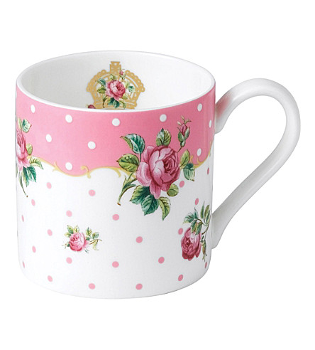 ROYAL ALBERT Cheeky Pink vintage mug