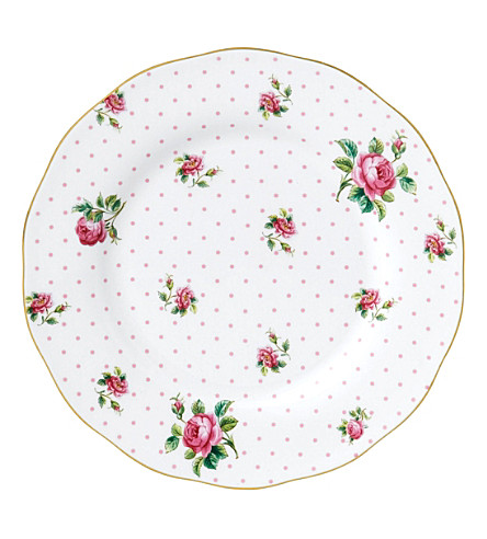 ROYAL ALBERT Cheeky Pink Vintage plate
