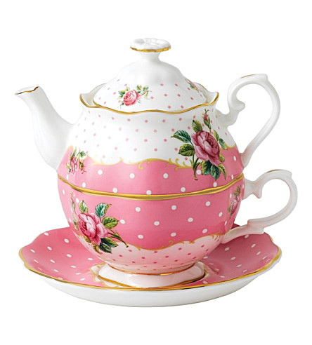ROYAL ALBERT Cheeky Pink tea for one set