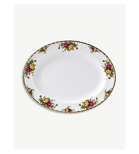 ROYAL ALBERT Old Country Roses china oval dish 33cm