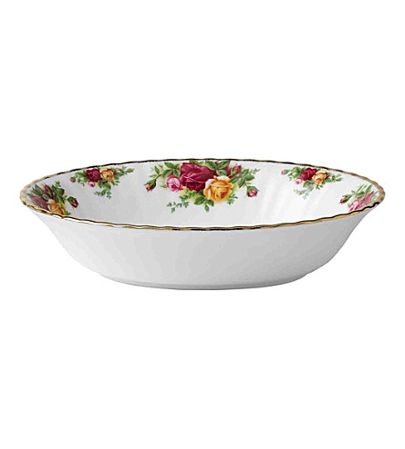 ROYAL ALBERT Old Country Roses oval vegetable dish 23cm