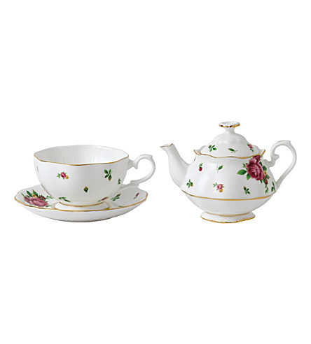 ROYAL ALBERT New Country Roses tea for one set