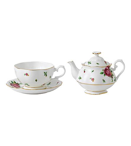 ROYAL ALBERT 一套的新的国家玫瑰茶叶