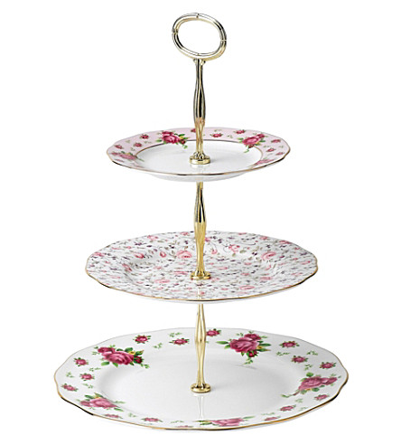 ROYAL ALBERT New Country Roses 3-tier cake stand