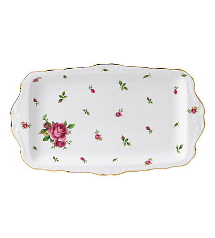 ROYAL ALBERT New Country Roses sandwich tray