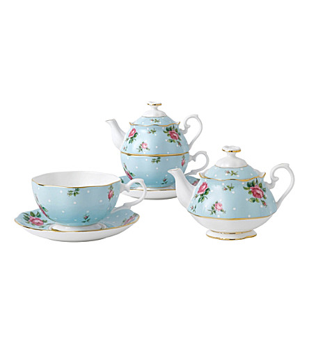 ROYAL ALBERT Polka tea for one set