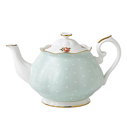 ROYAL ALBERT Polka Rose Vintage china teapot