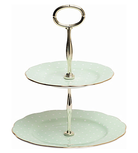 ROYAL ALBERT Polka Rose Vintage 2-Tier Cake Stand