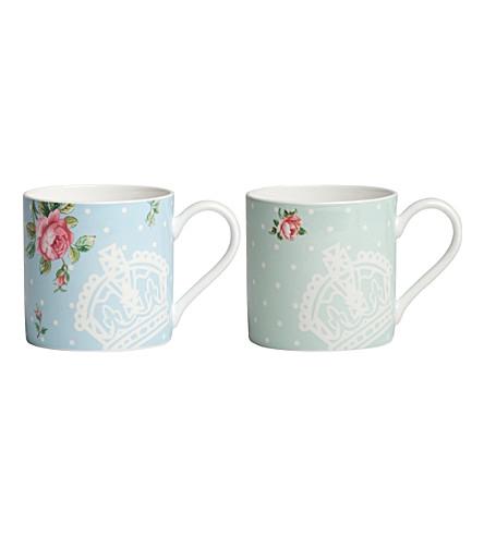 ROYAL ALBERT Polka mugs set of 2