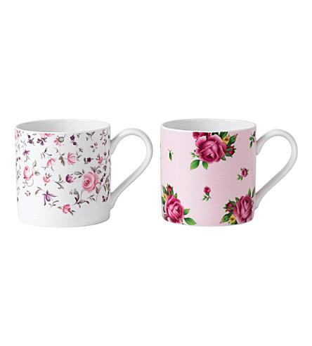ROYAL ALBERT Rose Confetti mugs set of 2