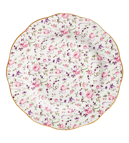 ROYAL ALBERT Rose Confetti Vintage plate 20cm