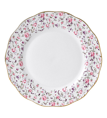 ROYAL ALBERT Rose Confetti plate 27cm