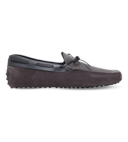 TODS 122 suede driving shoes (Grey