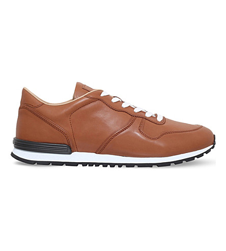 TODS Active leather trainers (Tan