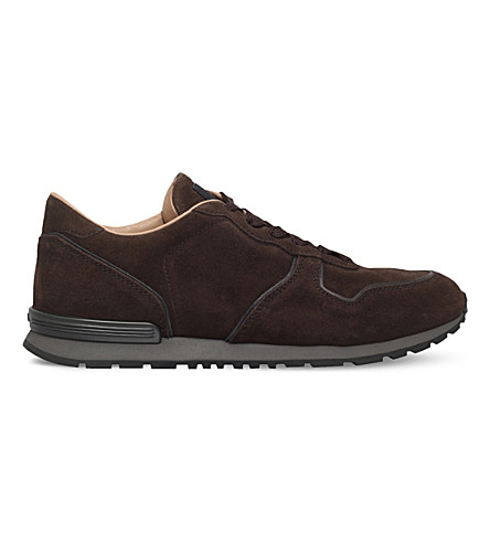 TODS Suede trainers (Dark+brown