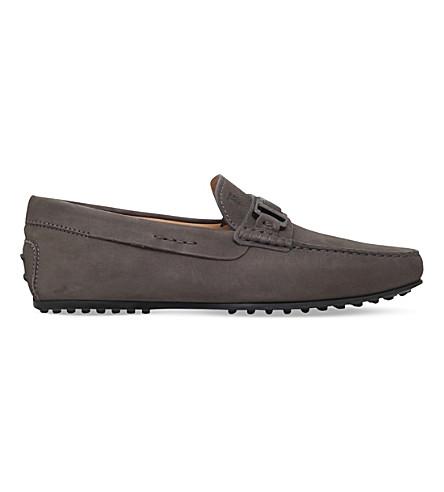 TODS 城市侧夹皮驱动鞋 (灰色