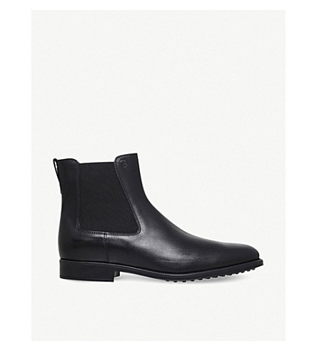 TODS Classic leather Chelsea boots (Black