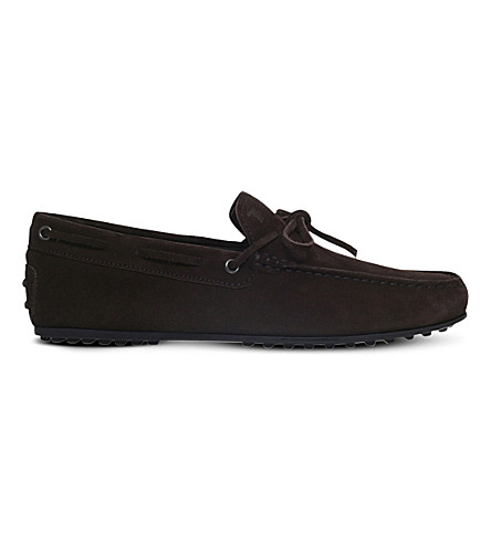 TODS City suede driving shoes (Dark brown
