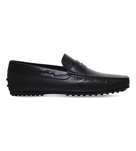 TODS City leather penny loafers (Black