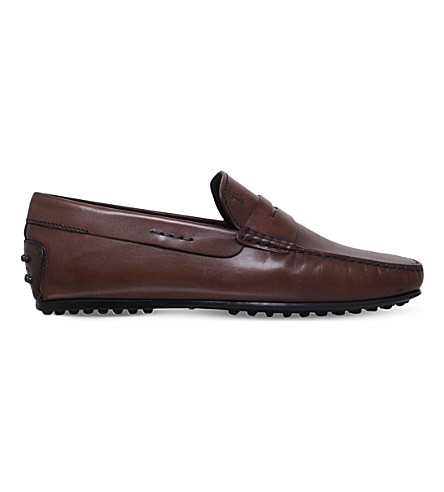 TODS City leather penny loafers (Brown