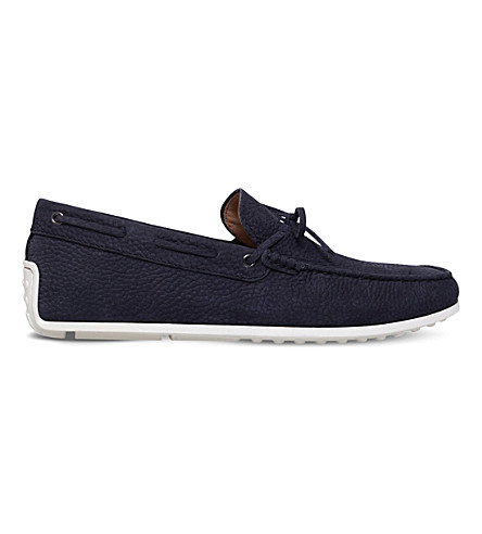 TODS Gommino Spider nubuck driving shoes (Navy