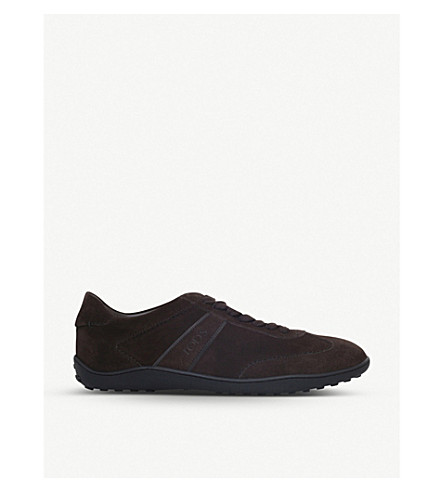 TODS Lo Pro suede trainers (Dark+brown