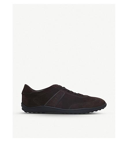 TODS Lo Pro suede sneakers (Dark+brown