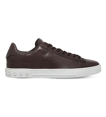 TODS Tennis leather trainers (Brown