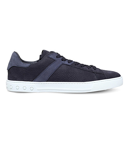 TODS Tennis leather trainers (Navy