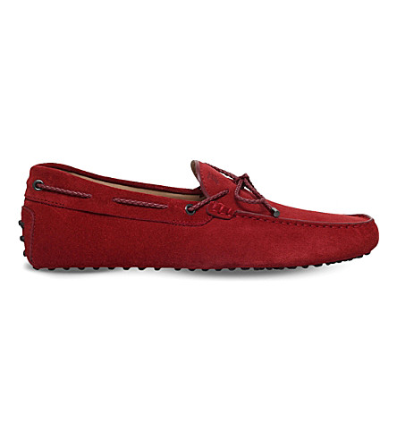 TODS Scooby Doo suede driving shoes (Red