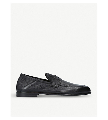 HARRYS LONDON Edward leather loafers (Black
