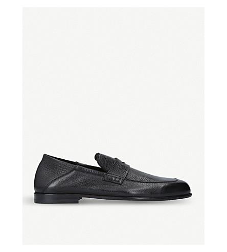 HARRYS 伦敦爱德华皮革便鞋 (黑色