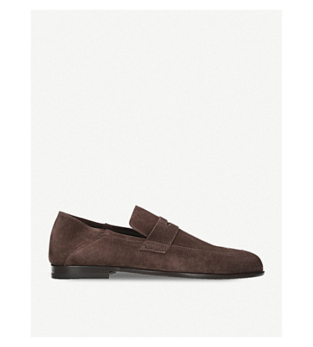 HARRYS LONDON Edward suede loafers (Dark+brown